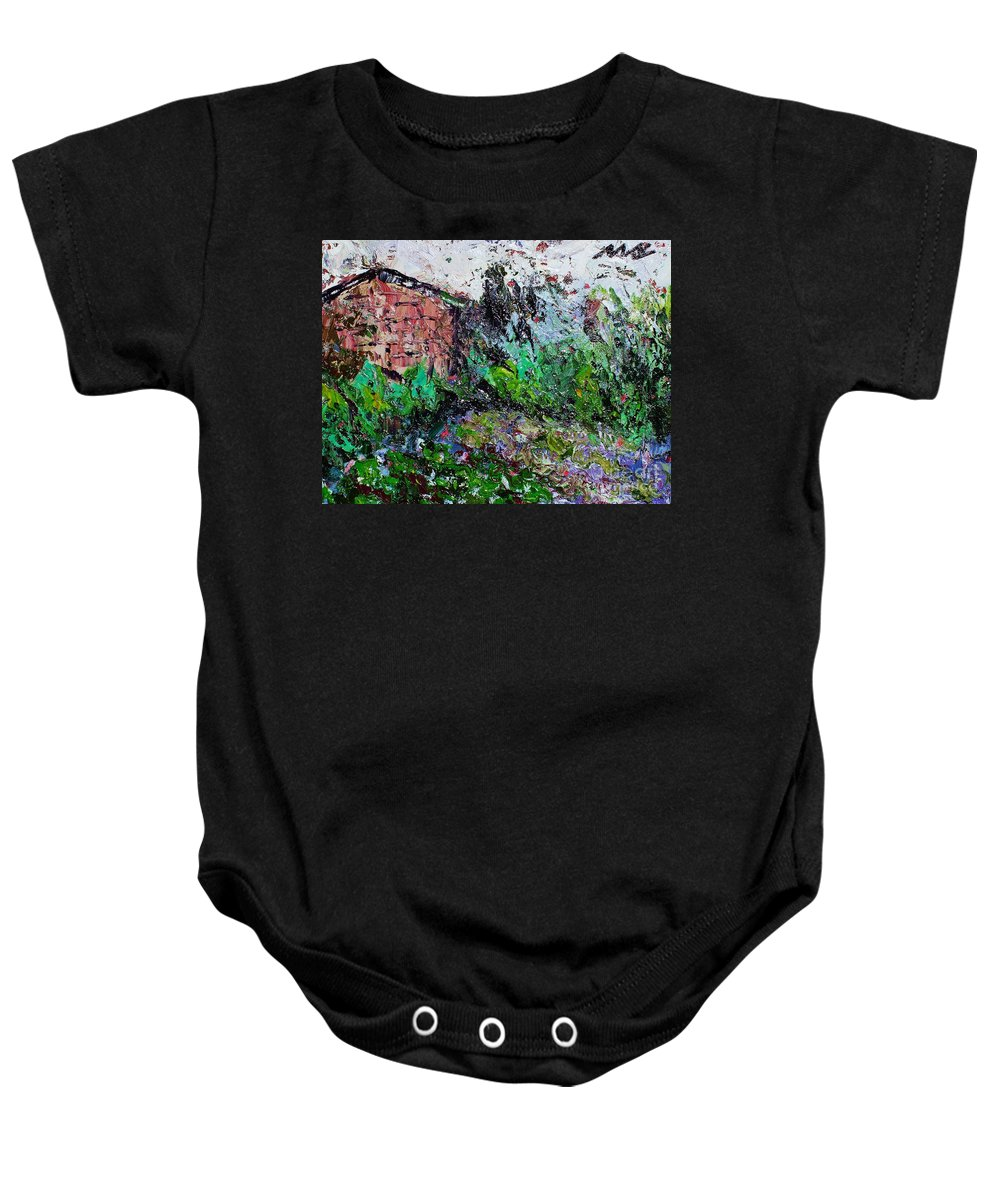 Garden Paintings Baby Onesie featuring the painting Mother by Seon-Jeong Kim