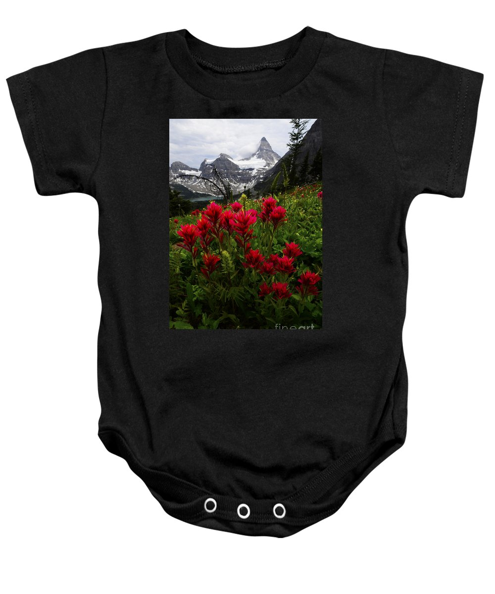 Mount Assiniboine Baby Onesie featuring the photograph Mount Assiniboine Canada 11 by Bob Christopher
