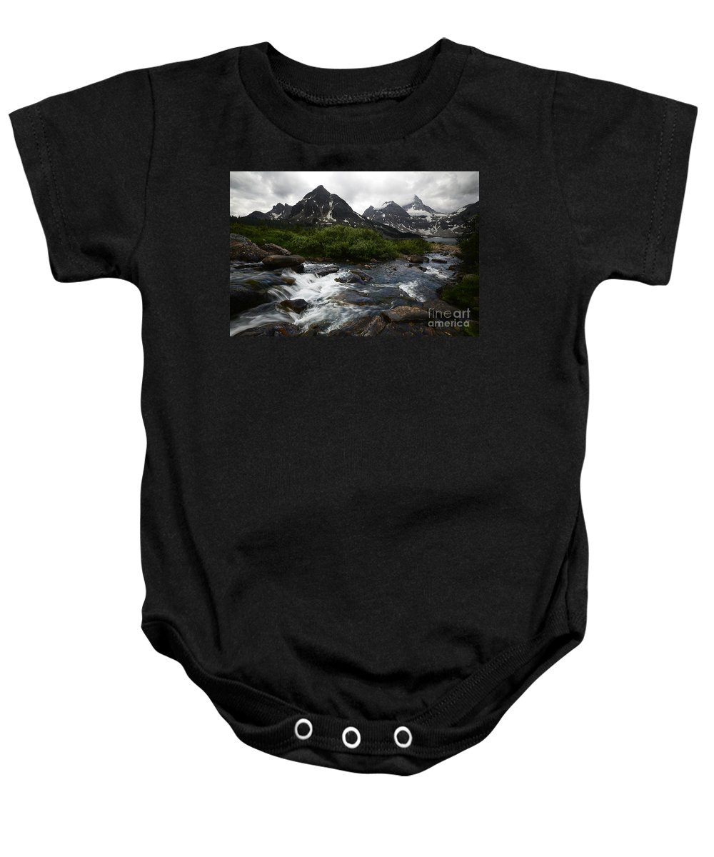 Mount Assiniboine Baby Onesie featuring the photograph Mount Assiniboine Canada 15 by Bob Christopher