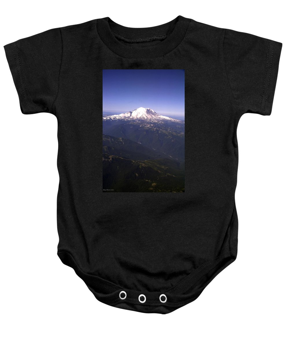 Mount Rainier Baby Onesie featuring the photograph Mount Rainier Washington State by Merja Waters