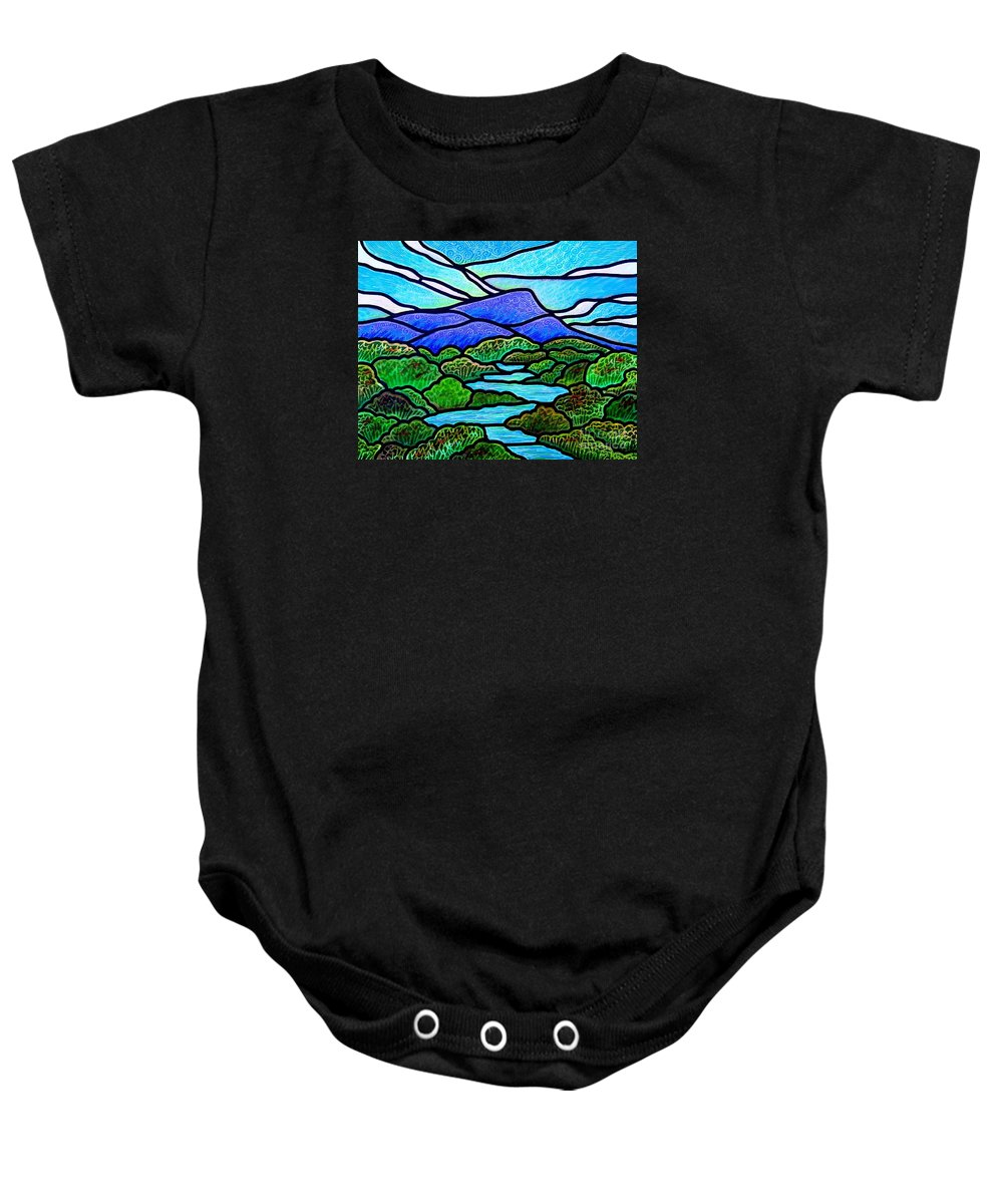 Paintings Baby Onesie featuring the painting Mountain Glory by Jim Harris