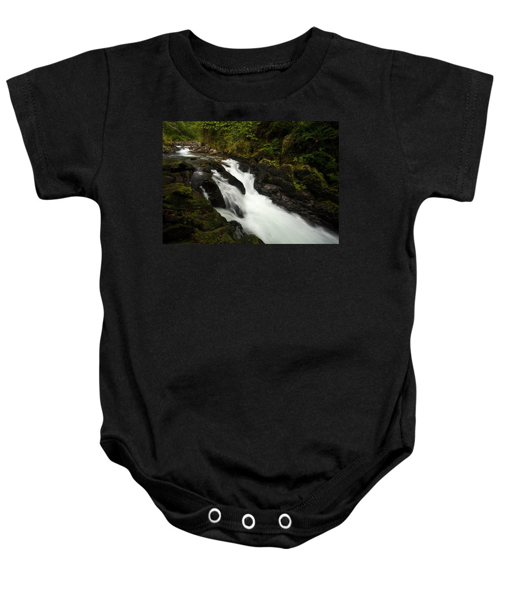 Stream Baby Onesie featuring the photograph Mountain Stream by Mike Reid