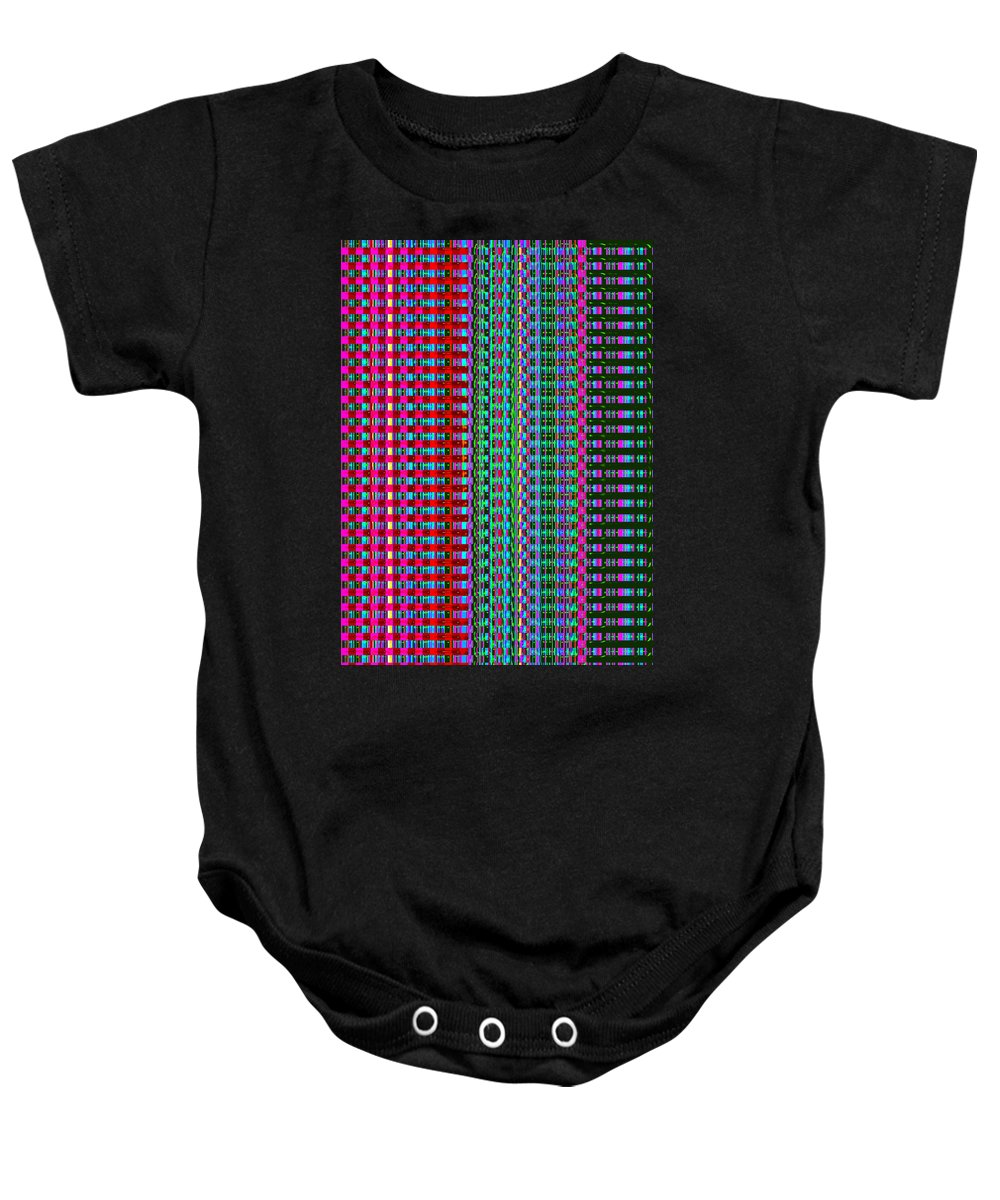 Moveonart! Digital Gallery Baby Onesie featuring the digital art MoveOnArt Eye Color Therapy One by Jacob Kanduch