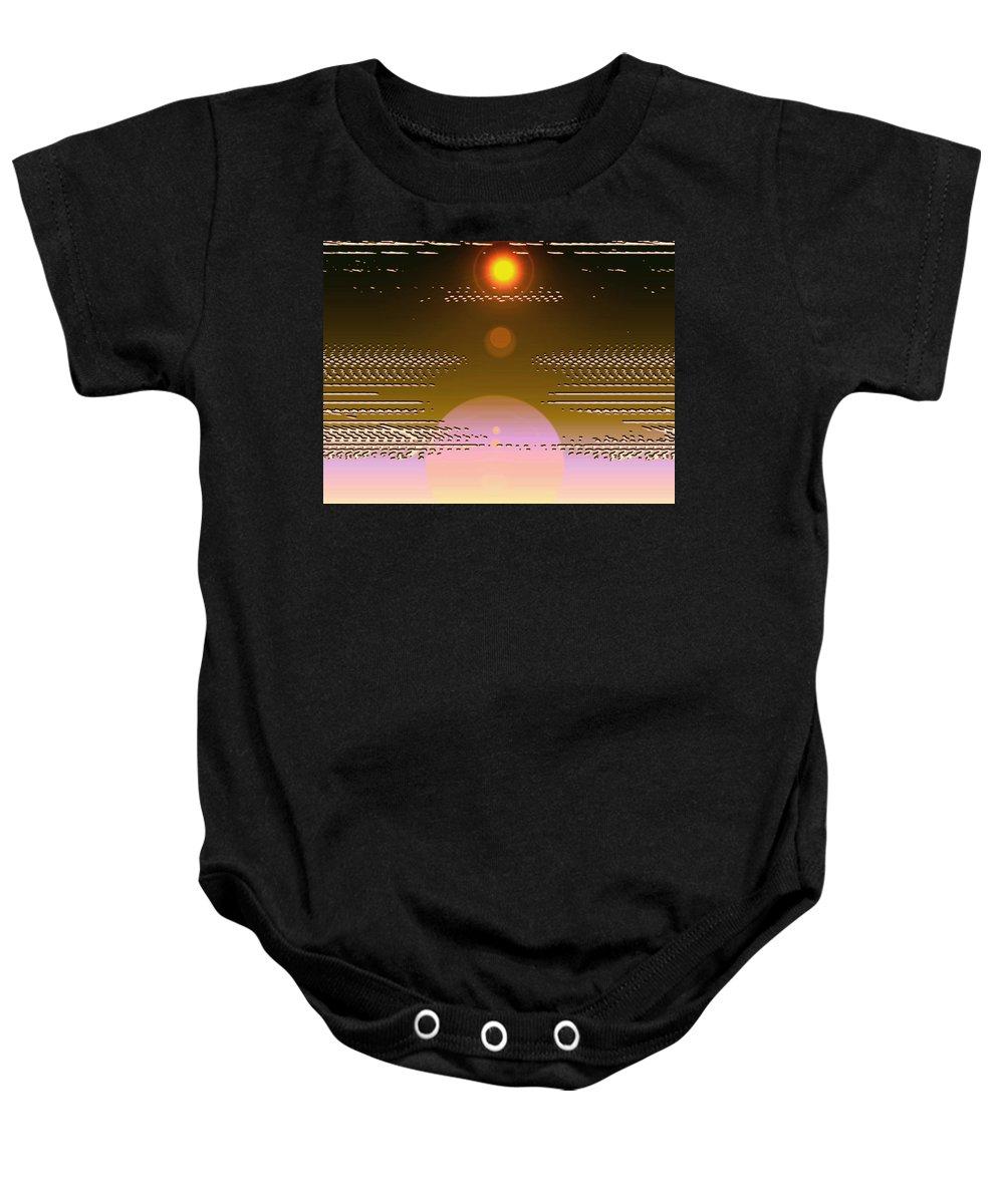 Moveonart! Digital Gallery Baby Onesie featuring the digital art Moveonart In Light Of Believing by Jacob Kanduch