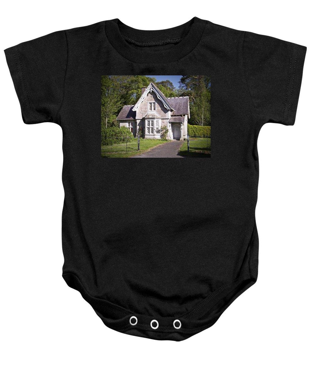 Irish Baby Onesie featuring the photograph Muckross Cottage Killarney Ireland by Teresa Mucha
