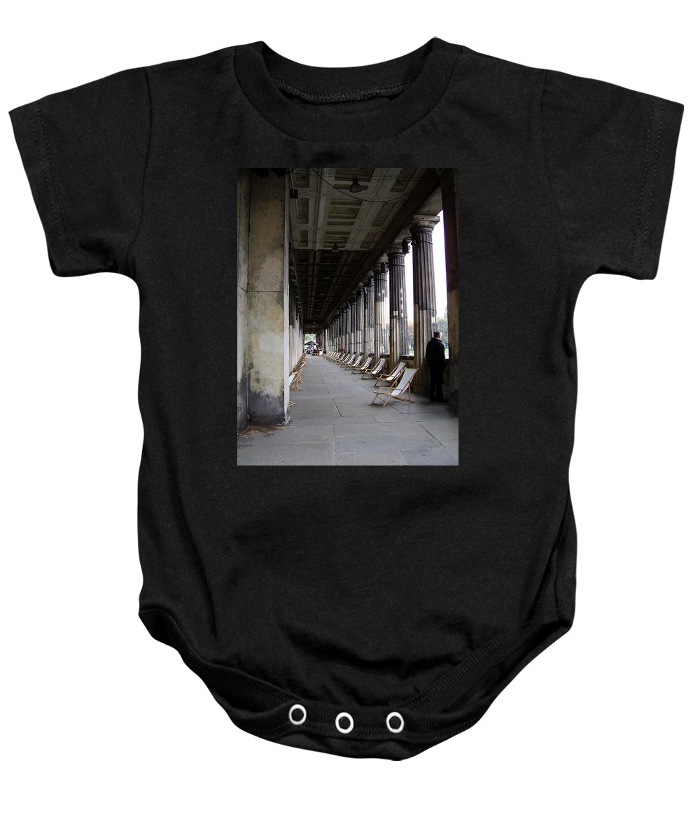 Museumsinsel Baby Onesie featuring the photograph Museumsinsel by Flavia Westerwelle