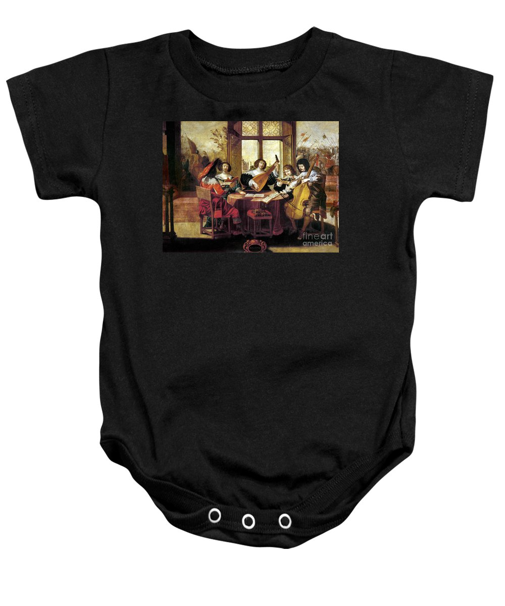 Abraham Baby Onesie featuring the photograph Music, 17th Century by Granger