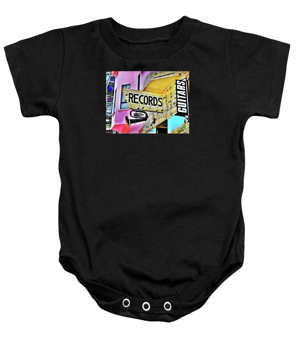 Music Baby Onesie featuring the photograph Its About Vinyl by John King
