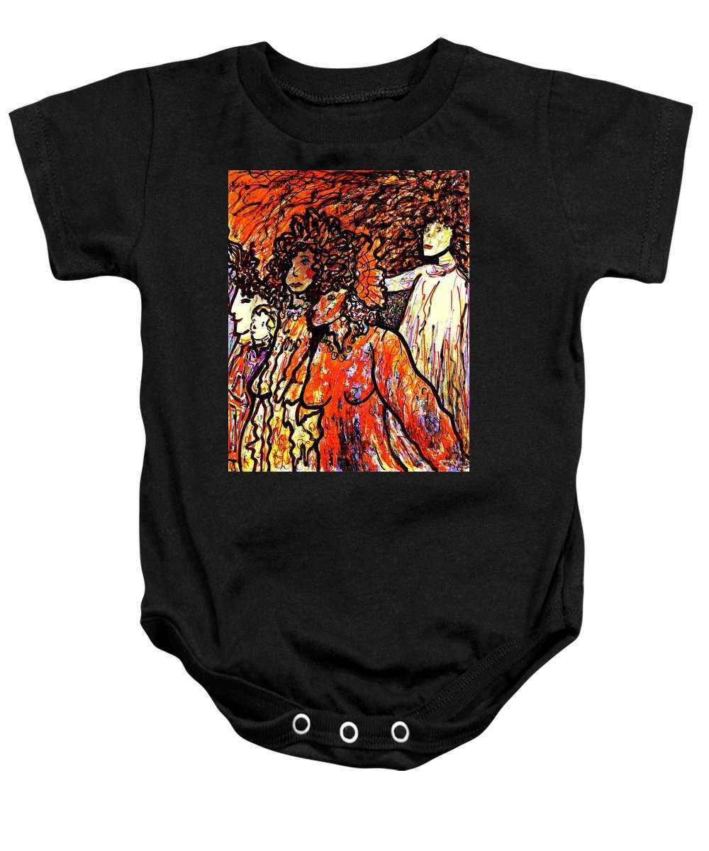 Figurative Art Baby Onesie featuring the painting Musical Recital by Natalie Holland