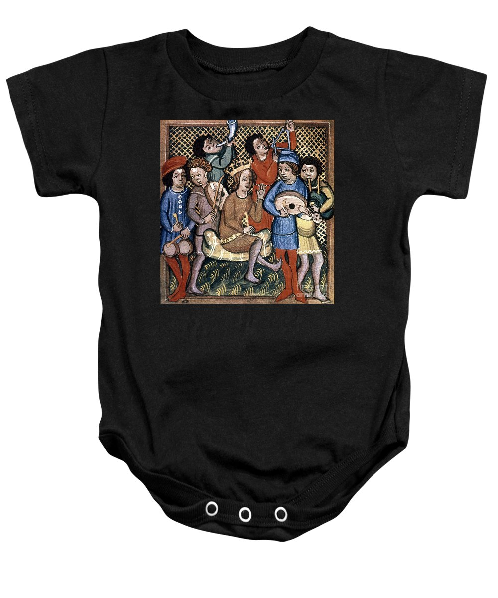 1417 Baby Onesie featuring the photograph Musicians by Granger