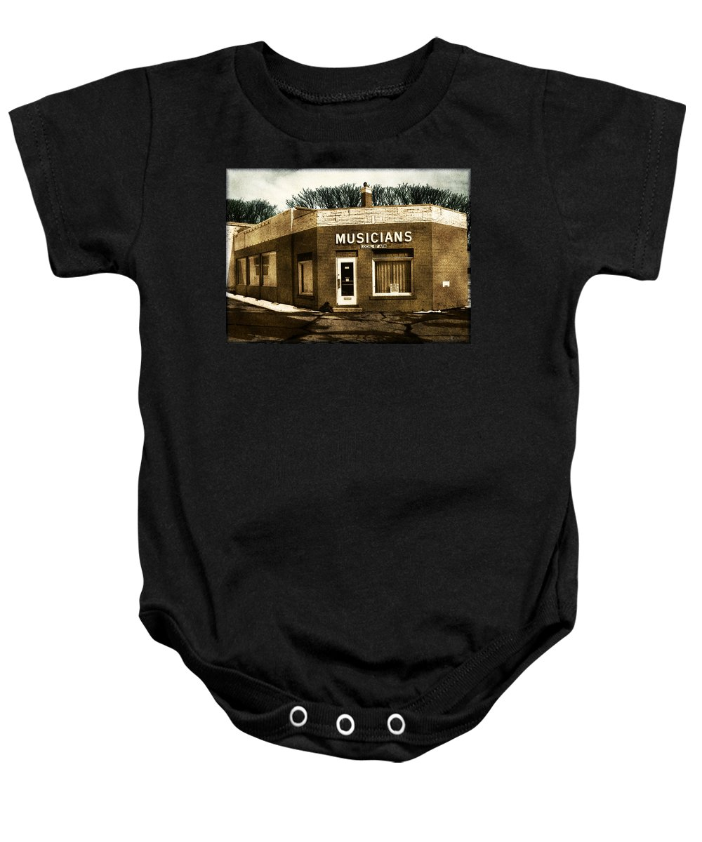 1950s Baby Onesie featuring the photograph Musicians Local 67 by Tim Nyberg