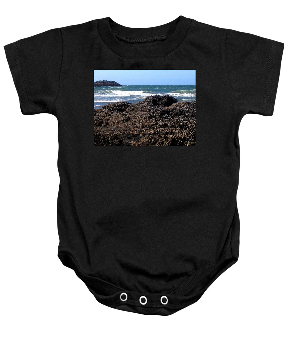 Mussels Baby Onesie featuring the photograph Mussels by Will Borden
