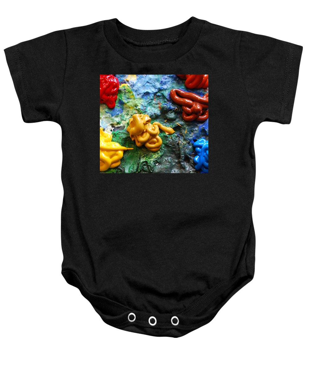 Palette Baby Onesie featuring the photograph My Colorful Palette by Nancy Mueller