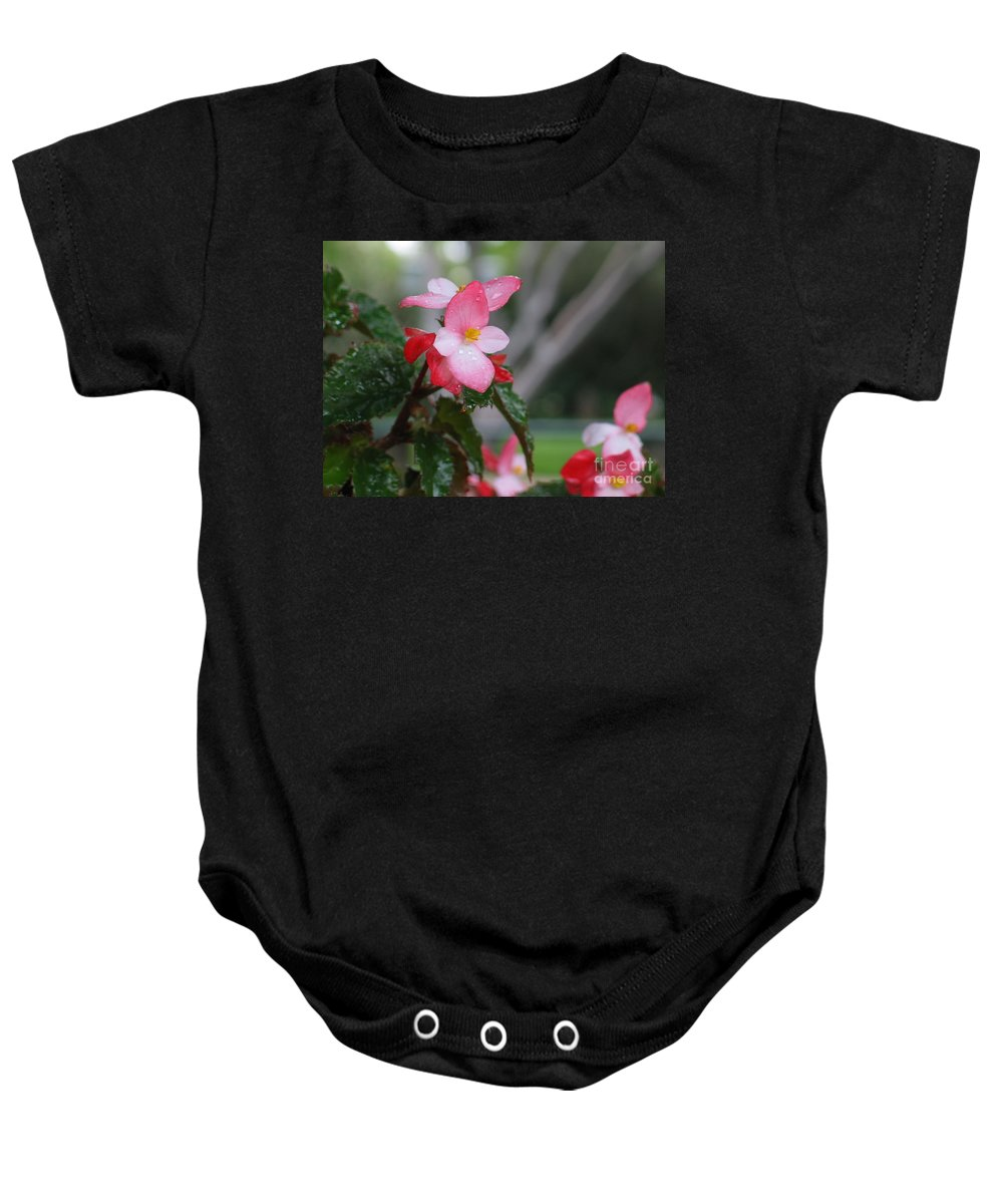 Flowers Baby Onesie featuring the painting My English Garden 8 by Hazel Holland
