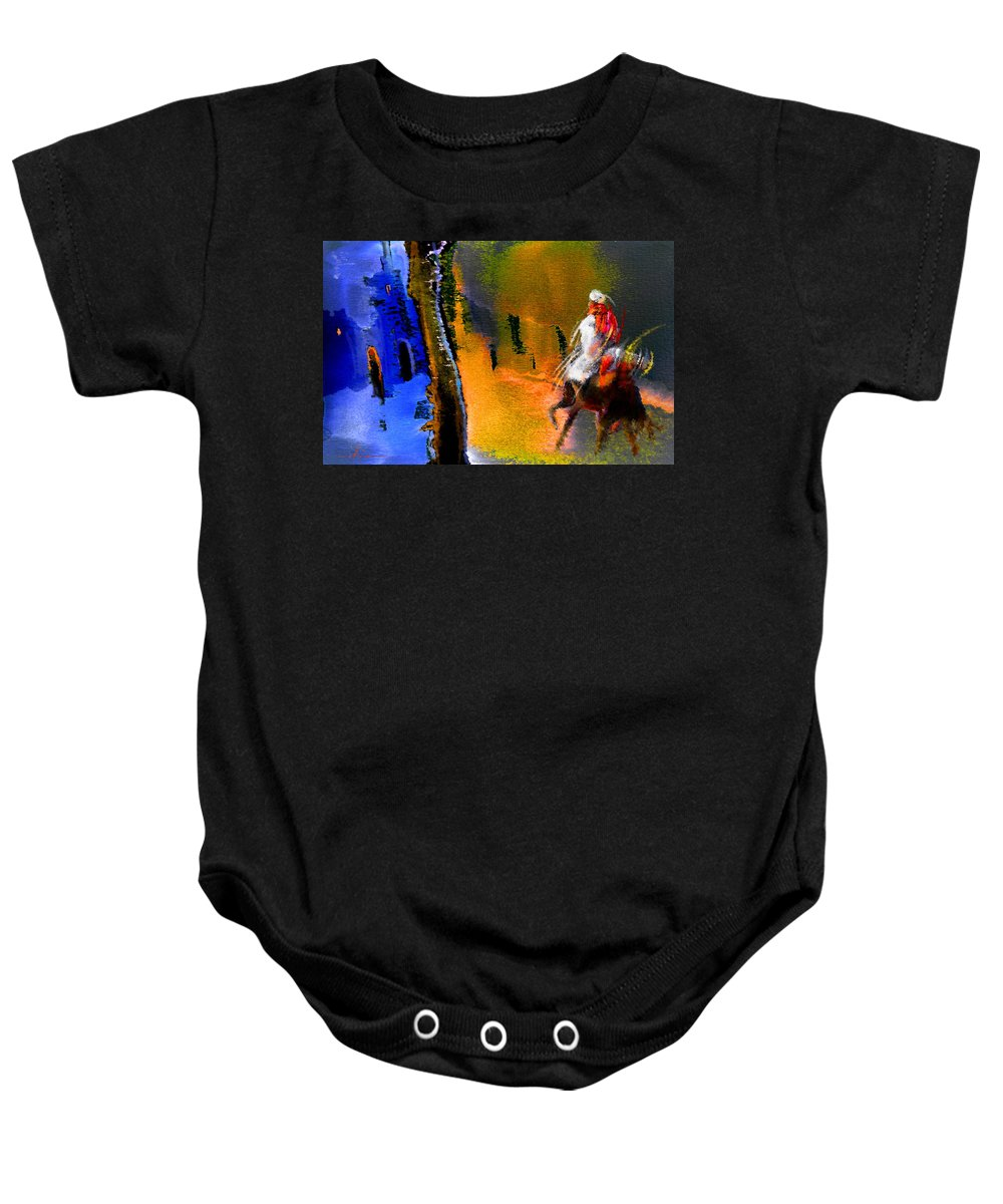 Dream Baby Onesie featuring the painting My Oasis by Miki De Goodaboom