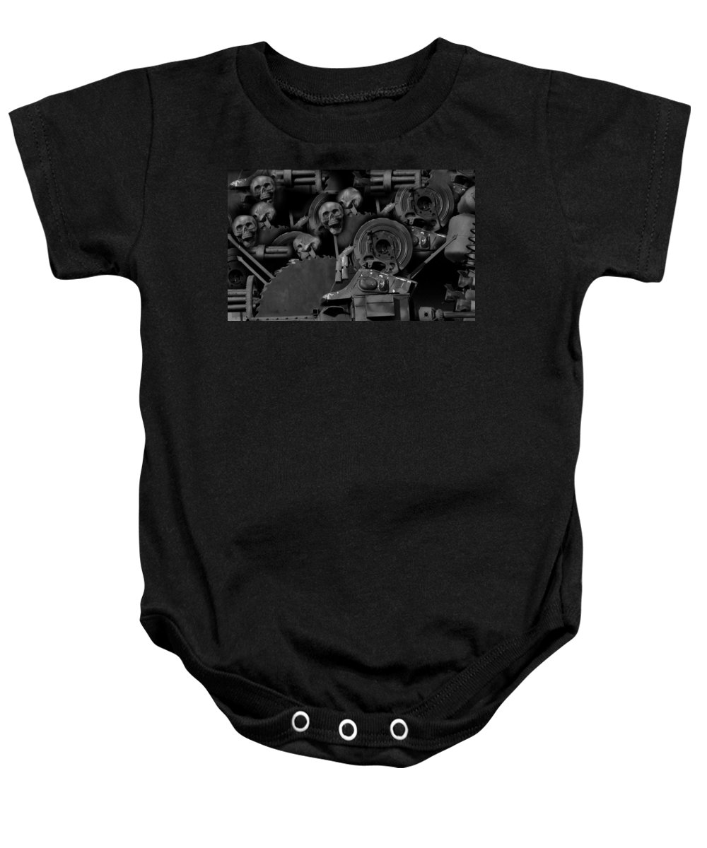 My Pains Revealed Baby Onesie featuring the digital art My Pains Revealed by Darin Baker