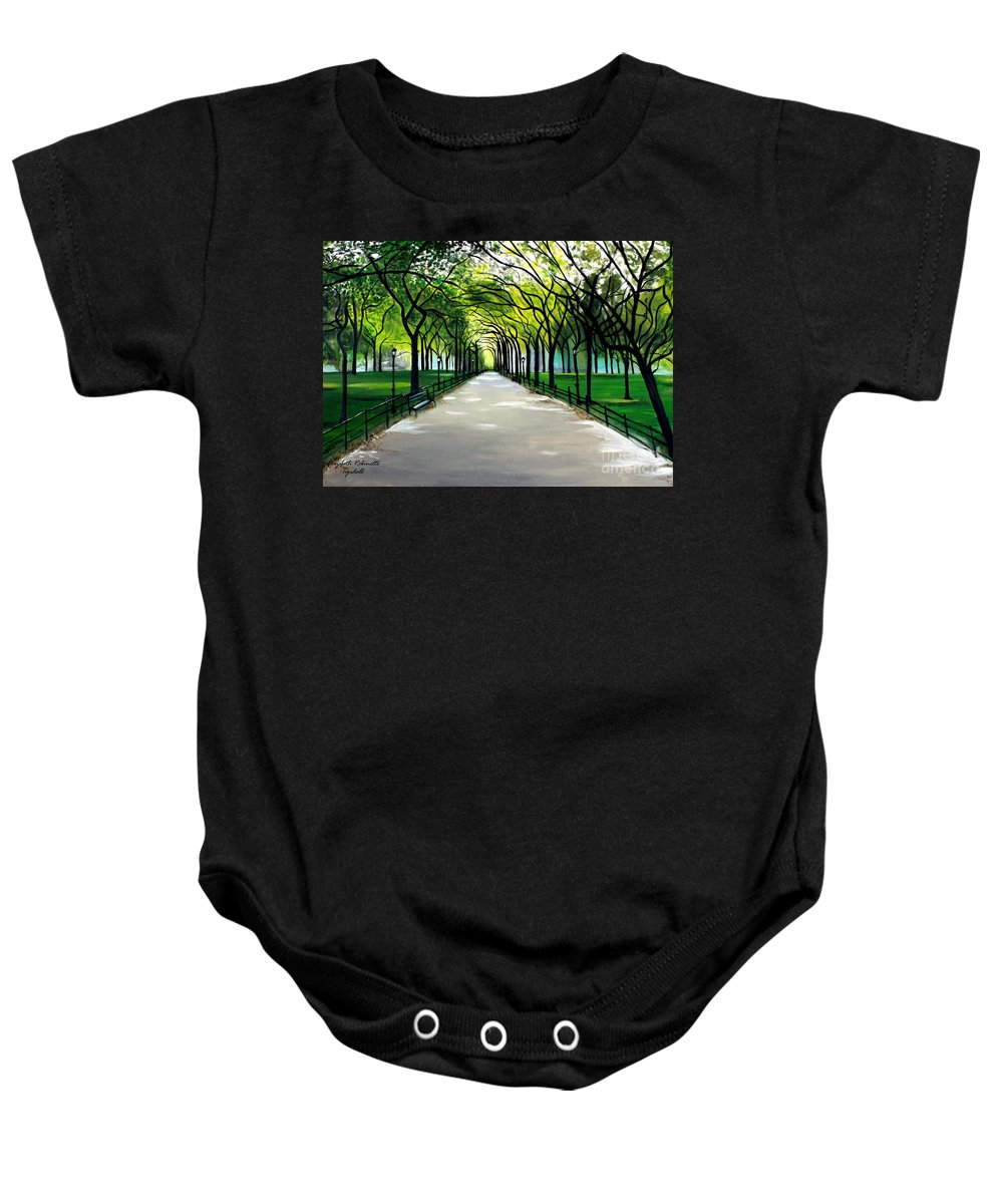 Landscape Baby Onesie featuring the painting My Poet's Walk by Elizabeth Robinette Tyndall