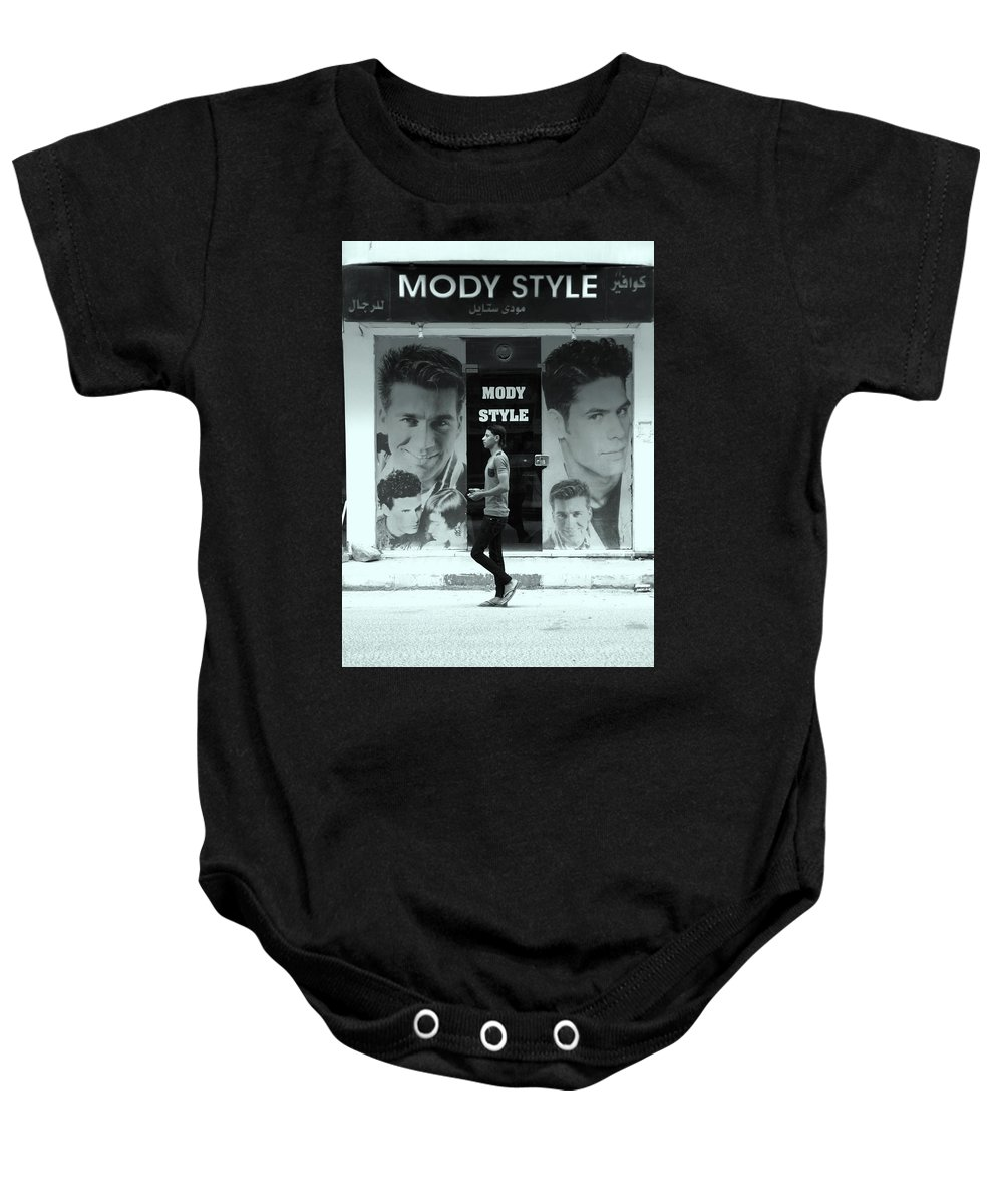 Jezcself Baby Onesie featuring the photograph My Style by Jez C Self
