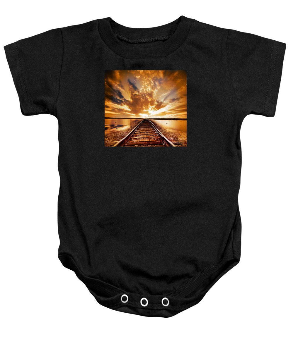 Water Baby Onesie featuring the photograph My Way by Jacky Gerritsen