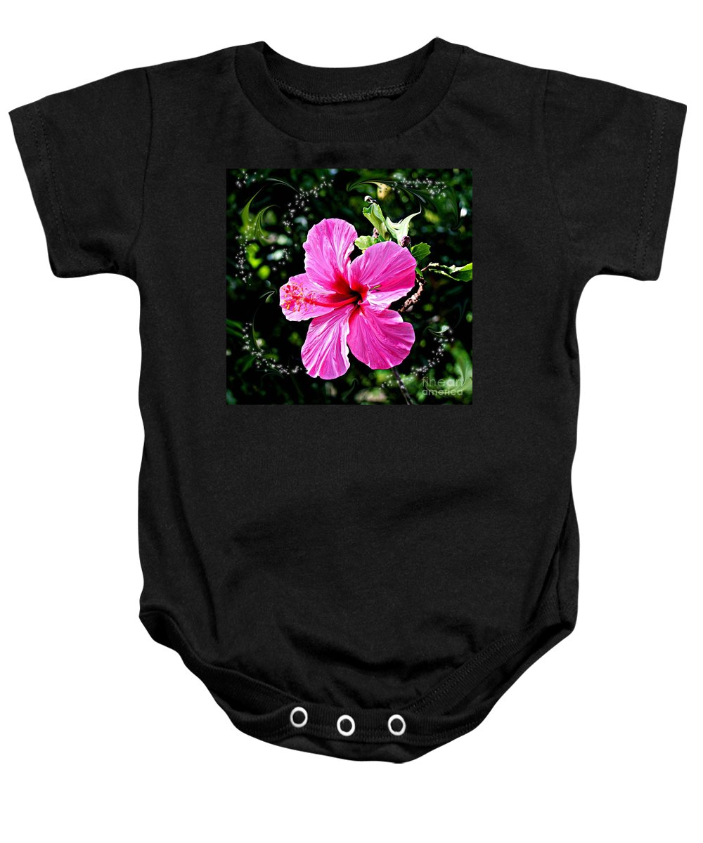 Flowers Baby Onesie featuring the photograph Mystical Bloom by The Art of Alice Terrill