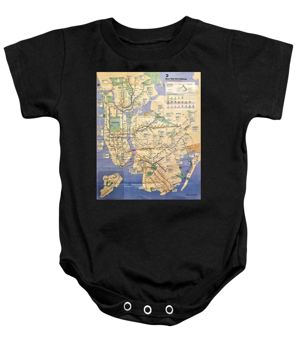 Nyc Subway Map T Shirt.N Y C Subway Map Baby Onesie