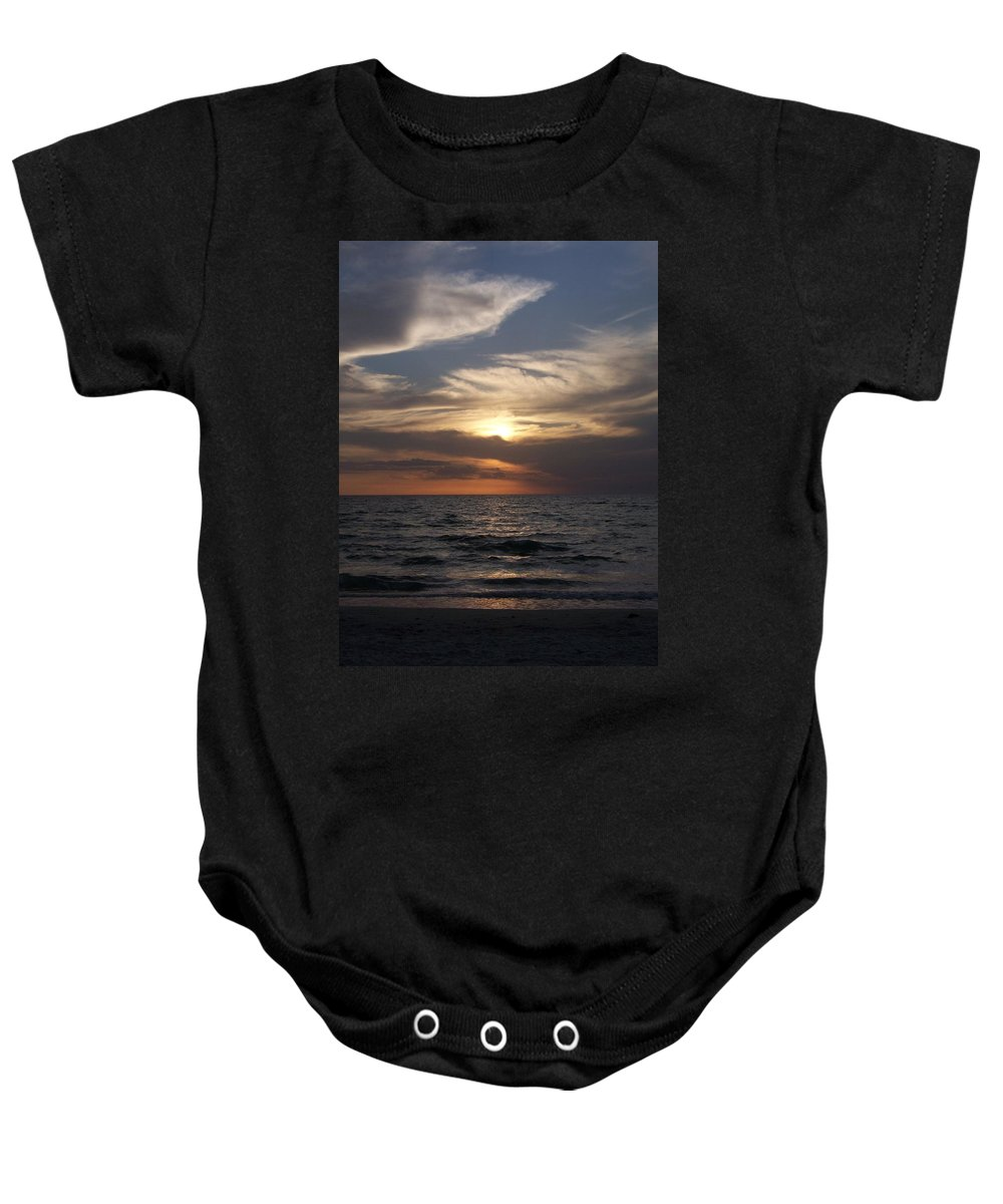 Naples Baby Onesie featuring the photograph Naples Sunset 0043 by Laurie Paci