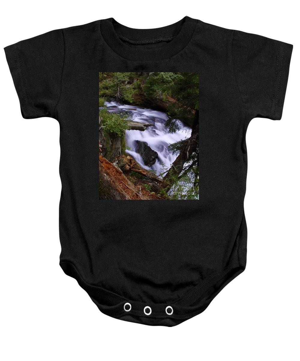 Waterfall Baby Onesie featuring the photograph National Creek Falls 03 by Peter Piatt
