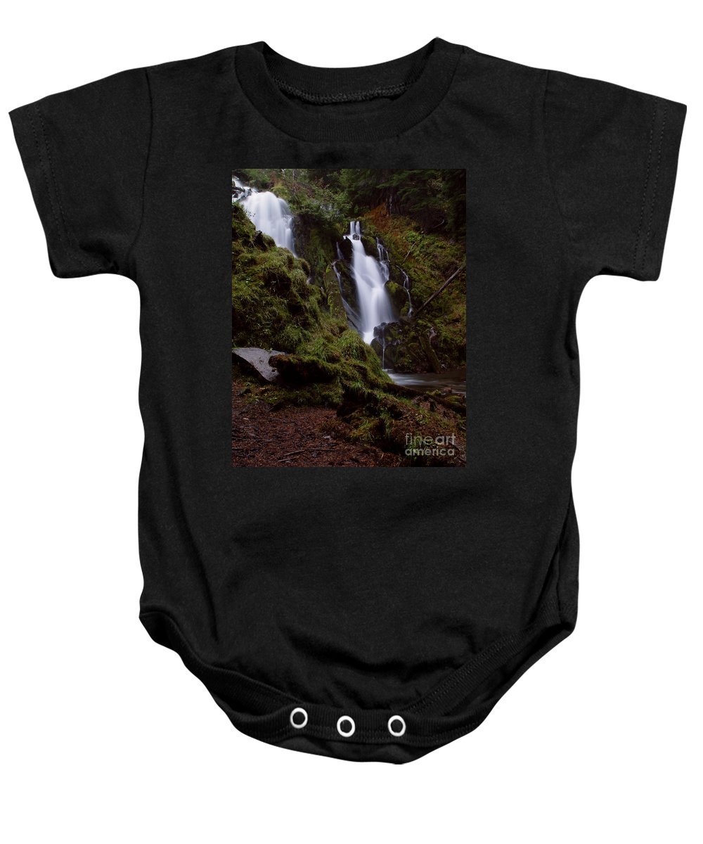 Waterfall Baby Onesie featuring the photograph National Creek Falls 04 by Peter Piatt