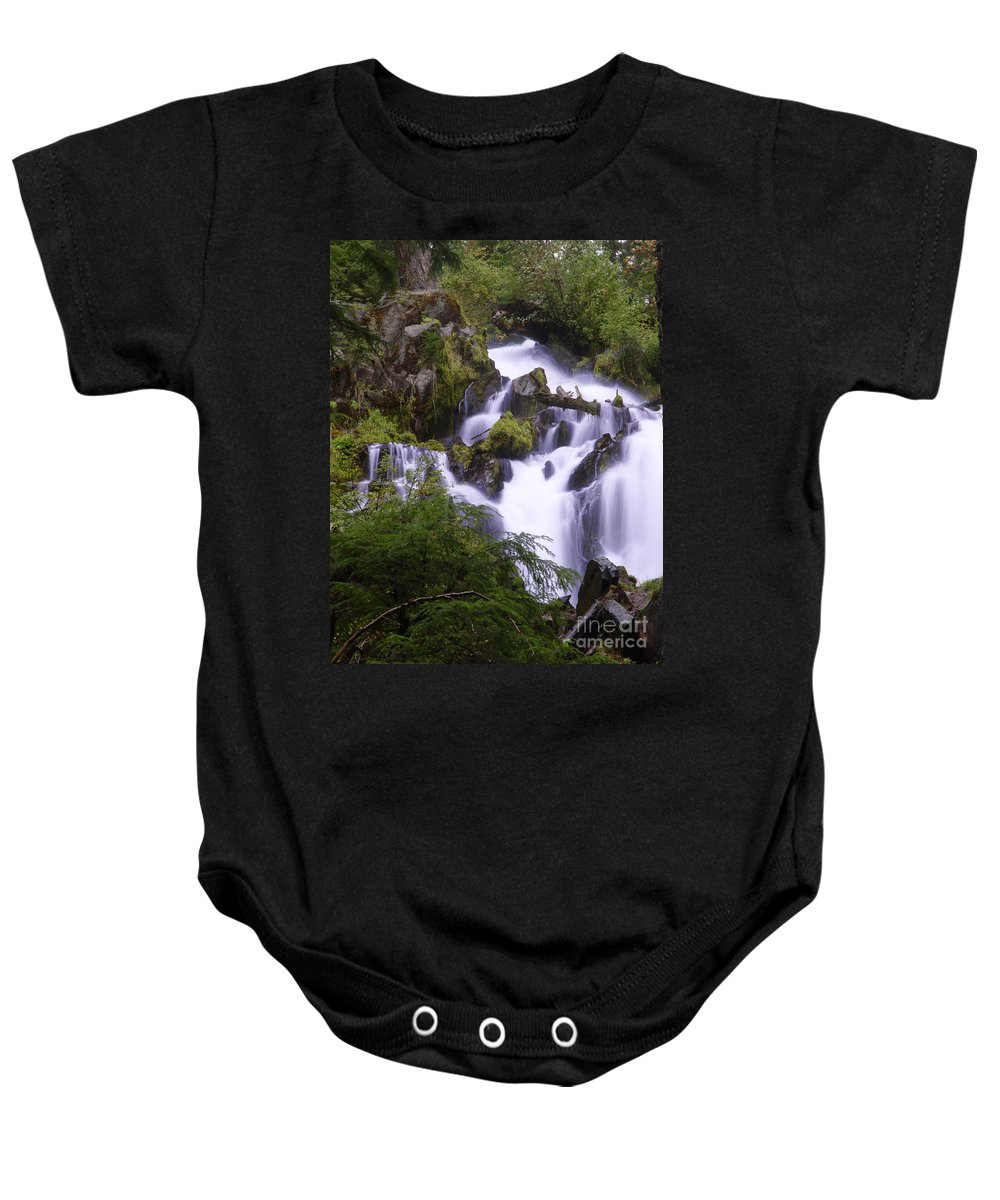 Waterfall Baby Onesie featuring the photograph National Creek Falls 05 by Peter Piatt