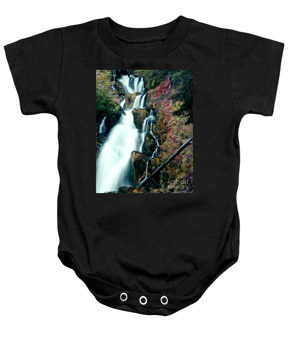 Waterfall Baby Onesie featuring the photograph National Creek Falls 07 by Peter Piatt