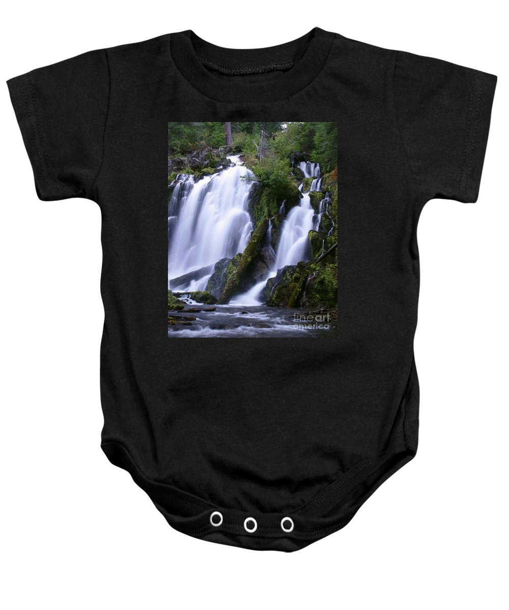 Waterfall Baby Onesie featuring the photograph National Creek Falls 09 by Peter Piatt