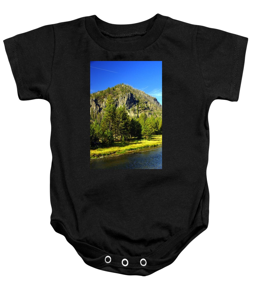 Yellowstone National Park Baby Onesie featuring the photograph National Park Mountain by Marty Koch