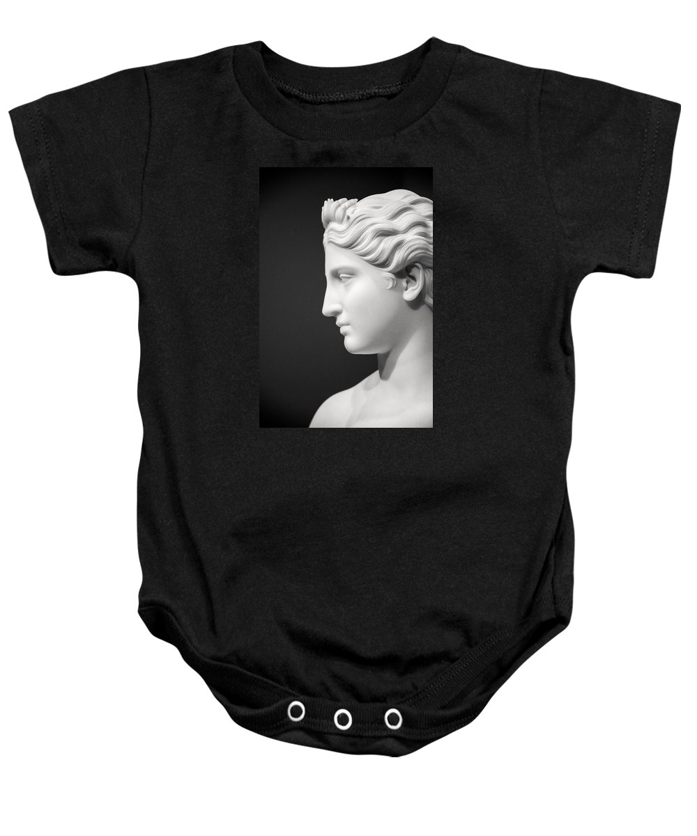 Statue Baby Onesie featuring the photograph National Portrait Gallery Statue Profile by Don Johnson