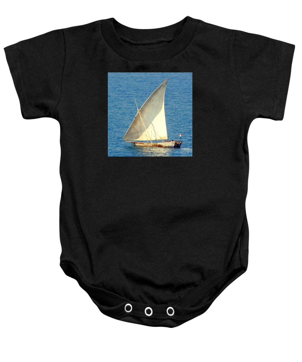 Sail Boat Baby Onesie featuring the photograph Native Sail Boat by John Potts