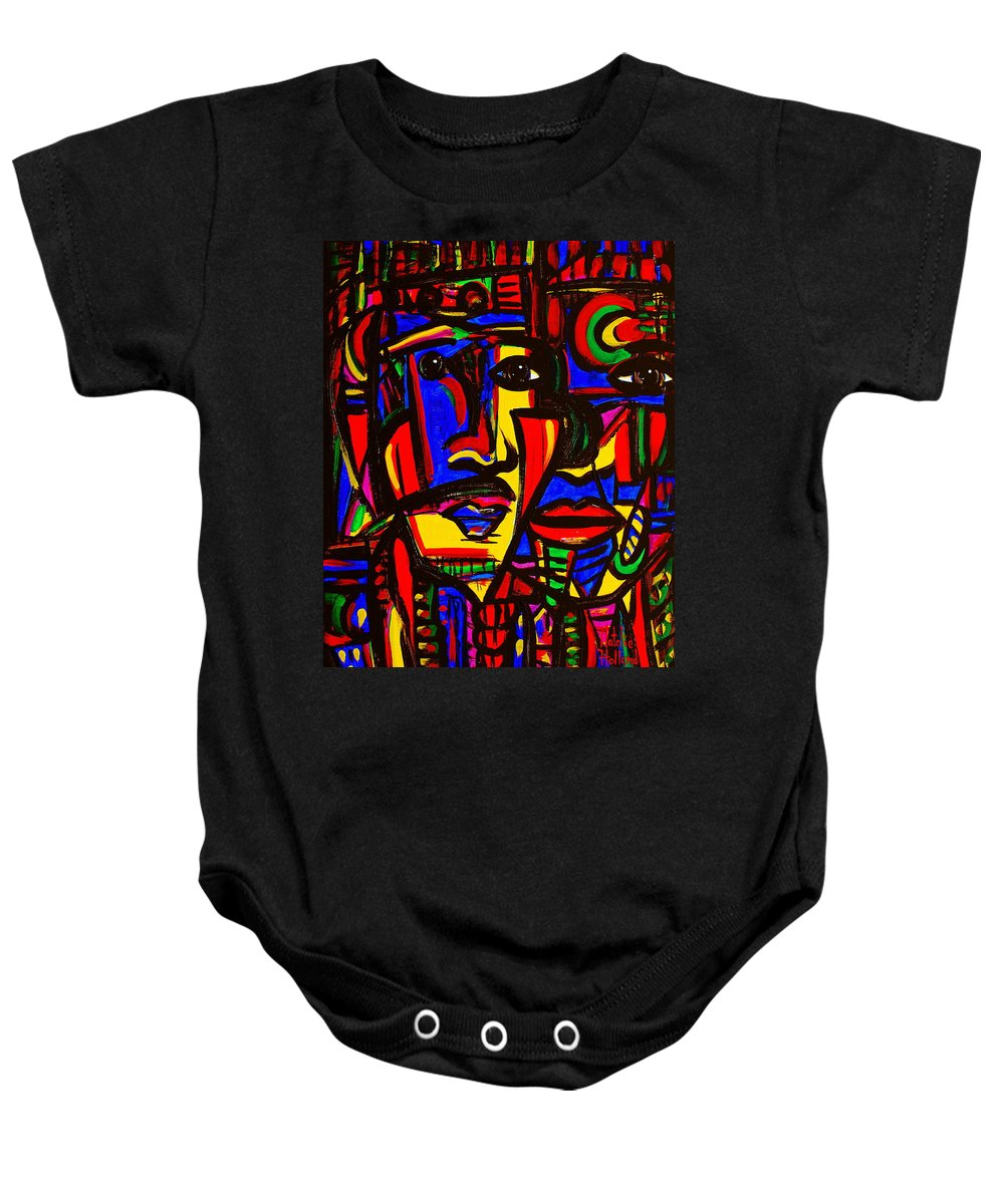 Expressionism Baby Onesie featuring the painting Natives by Natalie Holland