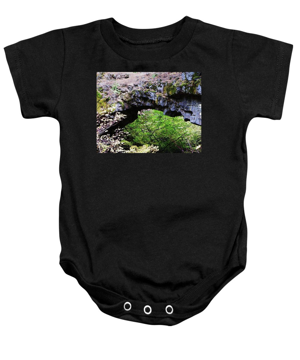 Rocks Baby Onesie featuring the photograph Natural Bridge by Jeff Swan