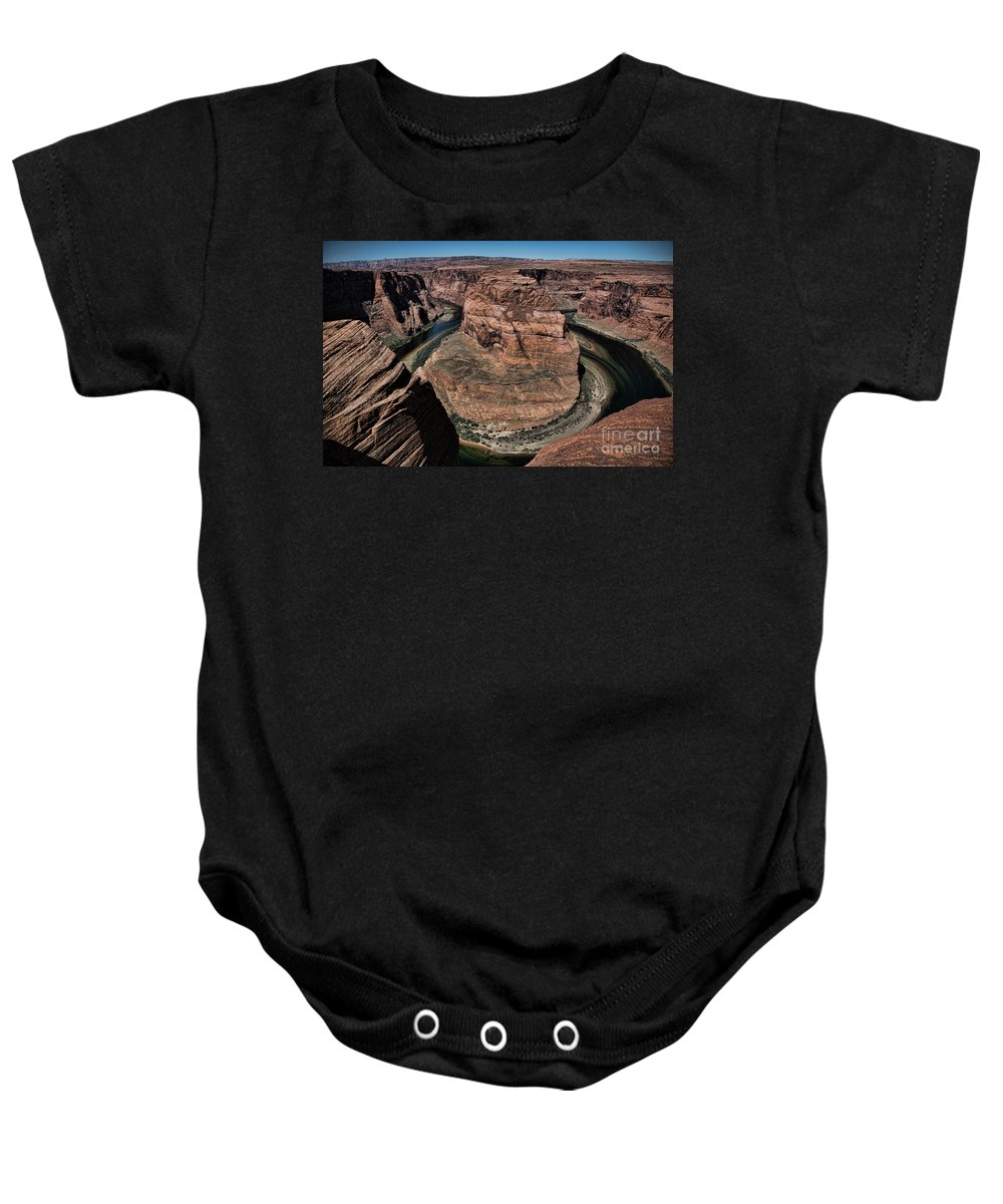 Horseshoe Bend Baby Onesie featuring the photograph Natural Horseshoe Bend Arizona by Chuck Kuhn