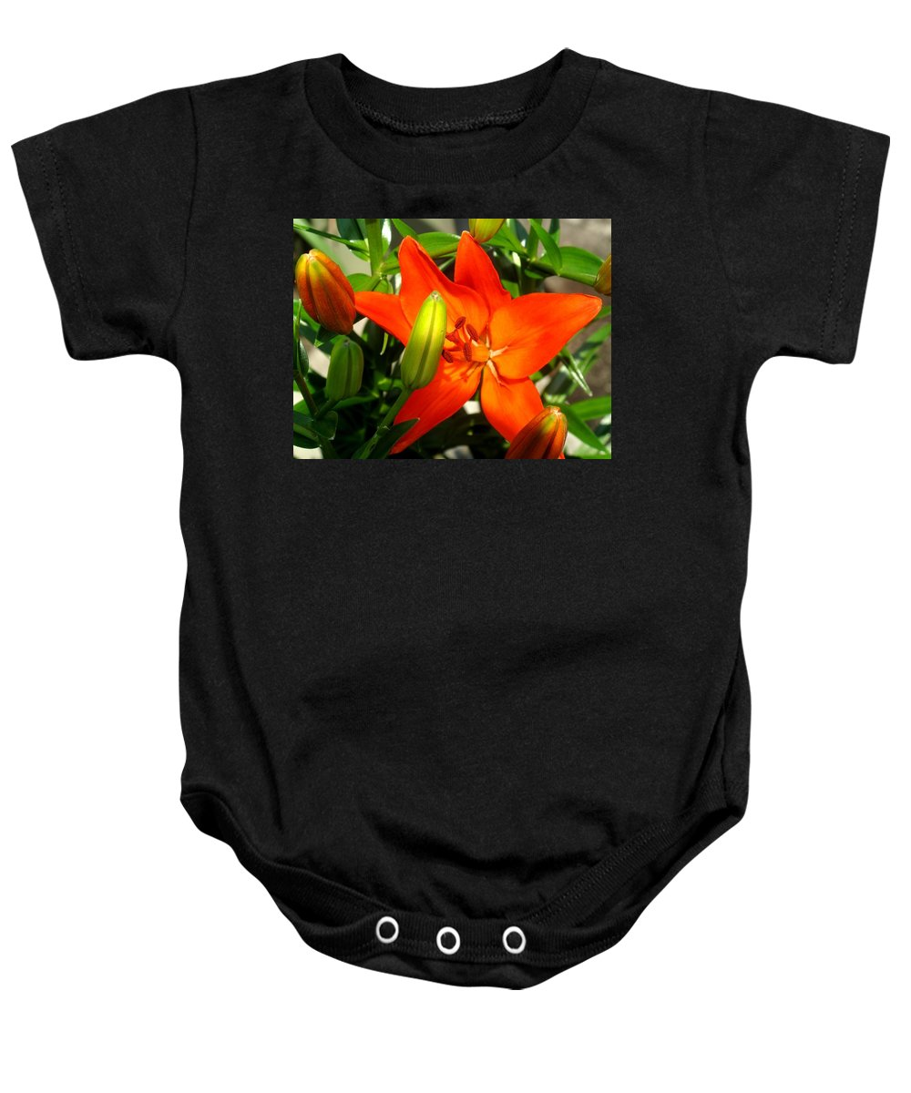 Flower Baby Onesie featuring the photograph Naturally Intense by Ian MacDonald