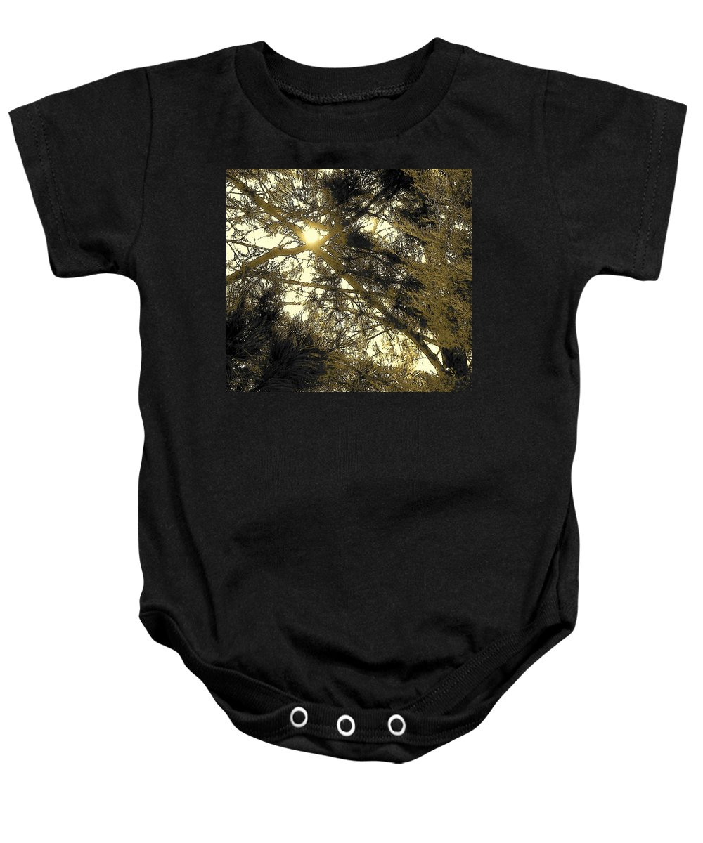 Abstract Baby Onesie featuring the photograph Nature In The Crosshairs by Lenore Senior