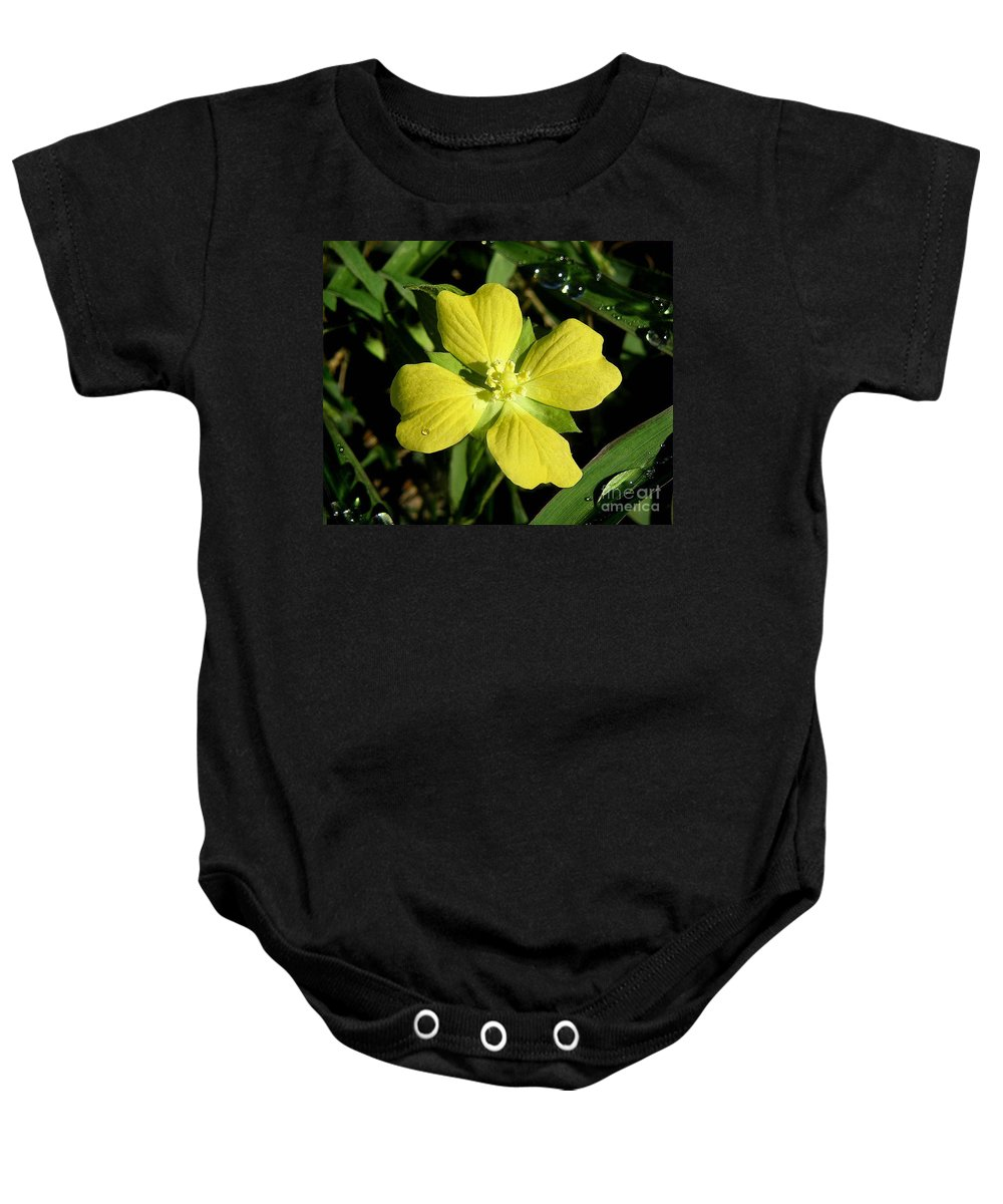 Nature Baby Onesie featuring the photograph Nature In The Wild - Kissed By The Sun by Lucyna A M Green