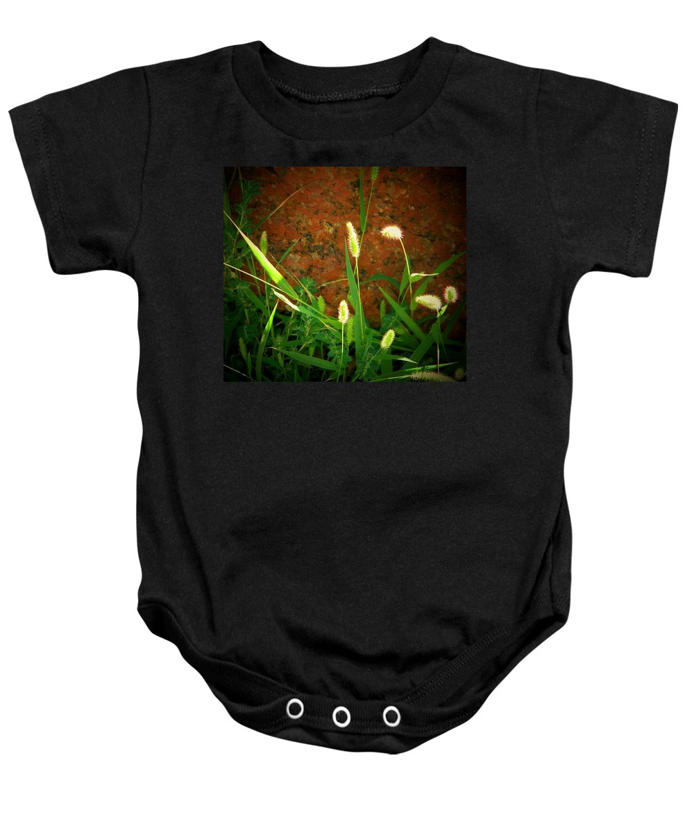 Wild Grasses Baby Onesie featuring the photograph Nature Untouched by Lenore Senior