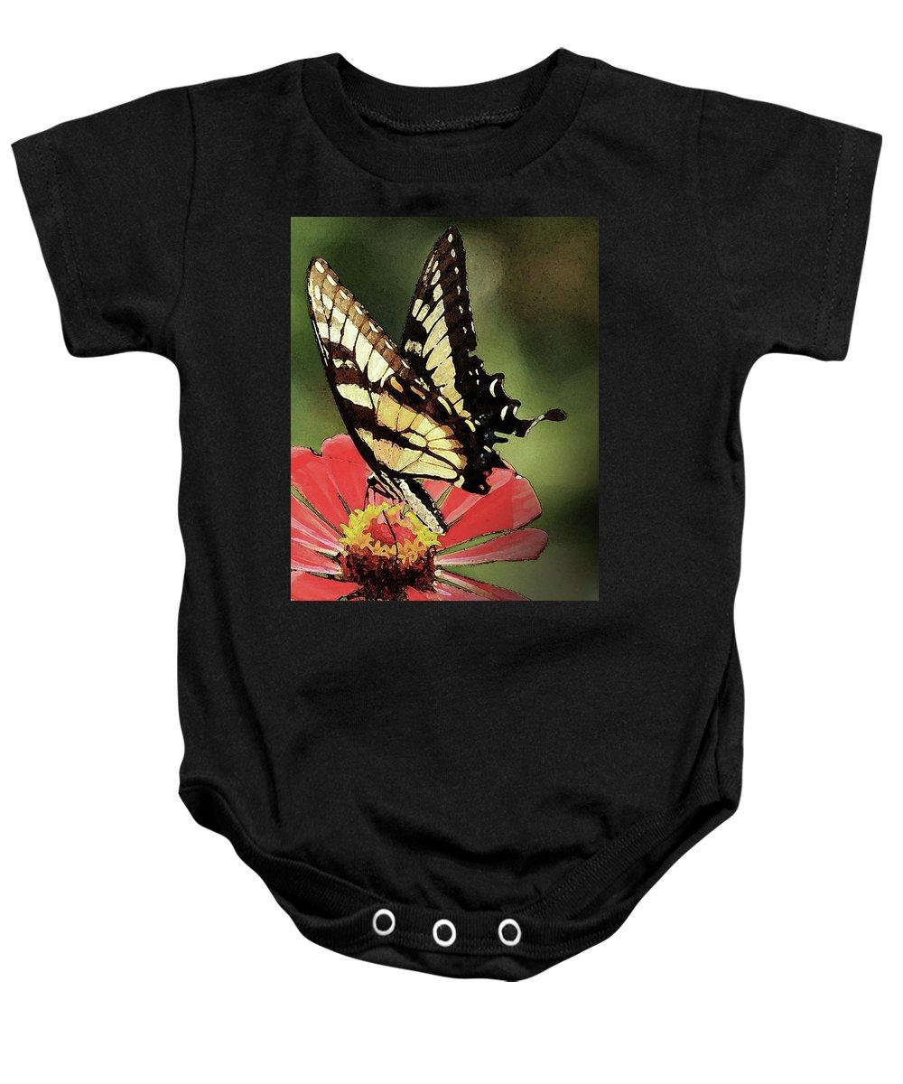 Butterflies Baby Onesie featuring the digital art Nature's Beauty by Kim Henderson