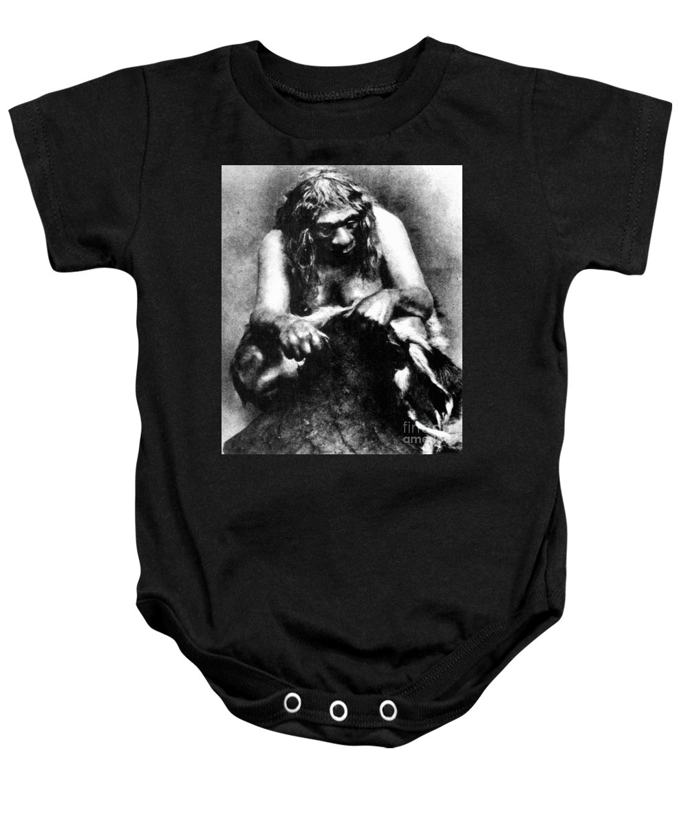 1929 Baby Onesie featuring the photograph Neanderthal Woman by Granger