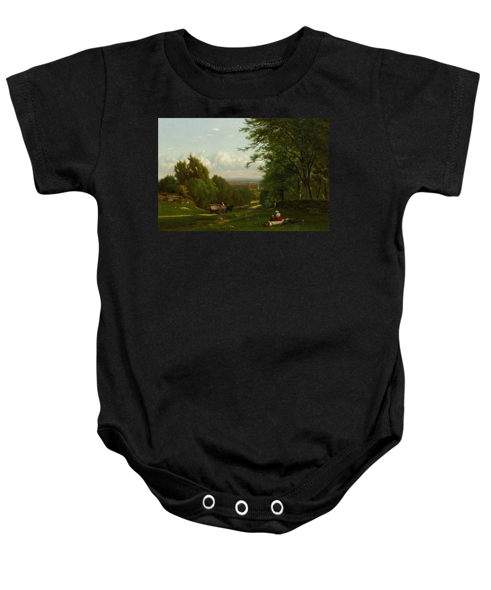 George Inness Baby Onesie featuring the painting Near Leeds, New York by George Inness