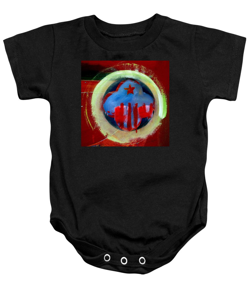 American State Baby Onesie featuring the painting Nebraska by Charles Stuart