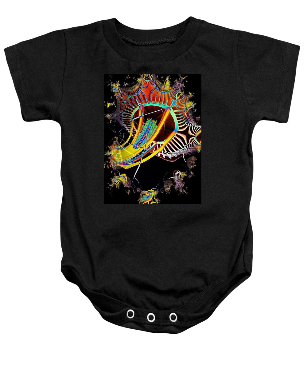 Seattle Baby Onesie featuring the photograph Needle In Fractal 2 by Tim Allen