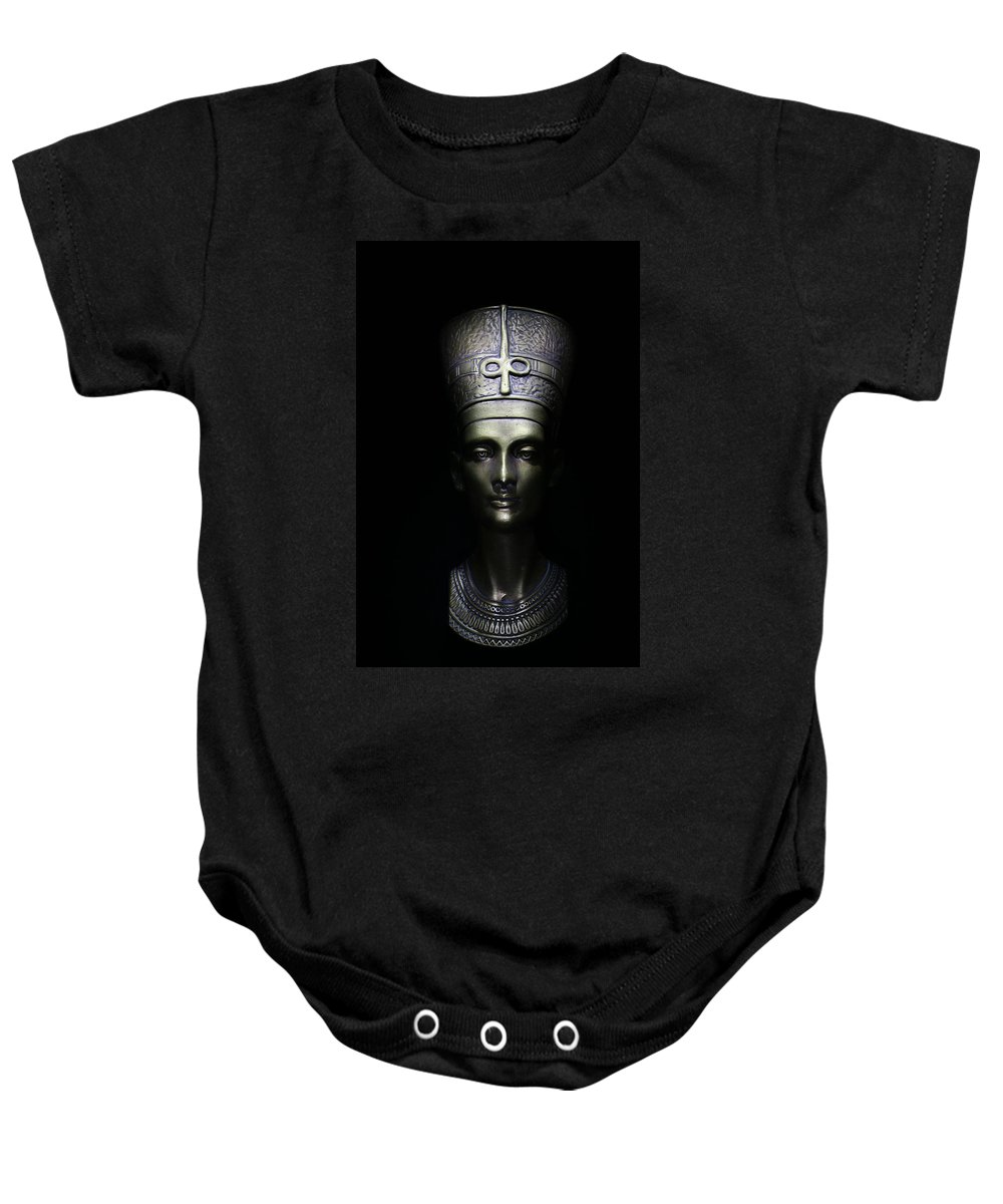 Queen Baby Onesie featuring the photograph Nefertiti by One Rude Dawg Orcutt