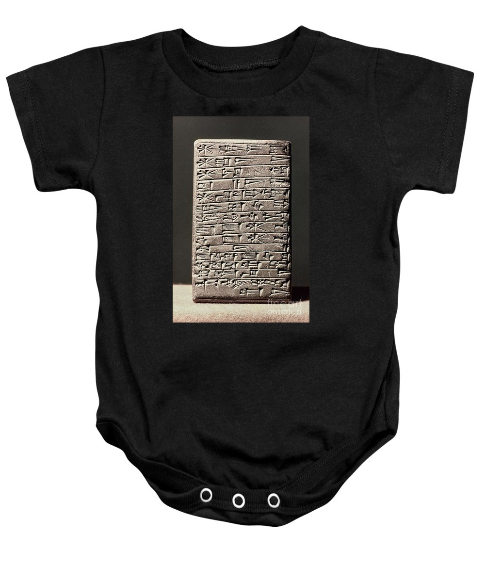 6th Century B.c. Baby Onesie featuring the photograph Neo-babylonian Clay Tablet by Granger