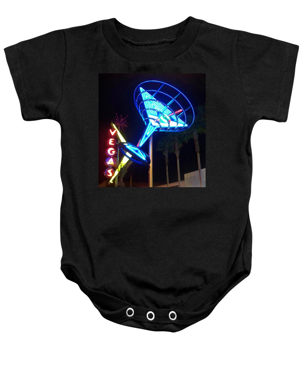 Vegas Baby Onesie featuring the photograph Neon Signs 1 by Anita Burgermeister