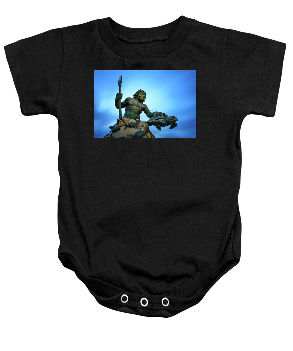 God Baby Onesie featuring the photograph Neptune's Power by Michael Scott